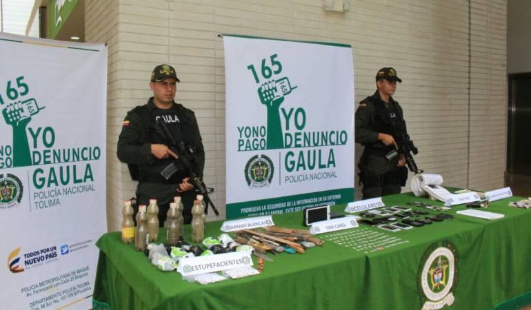 Resultados de operativos en la cárcel de Picaleña de Ibagué