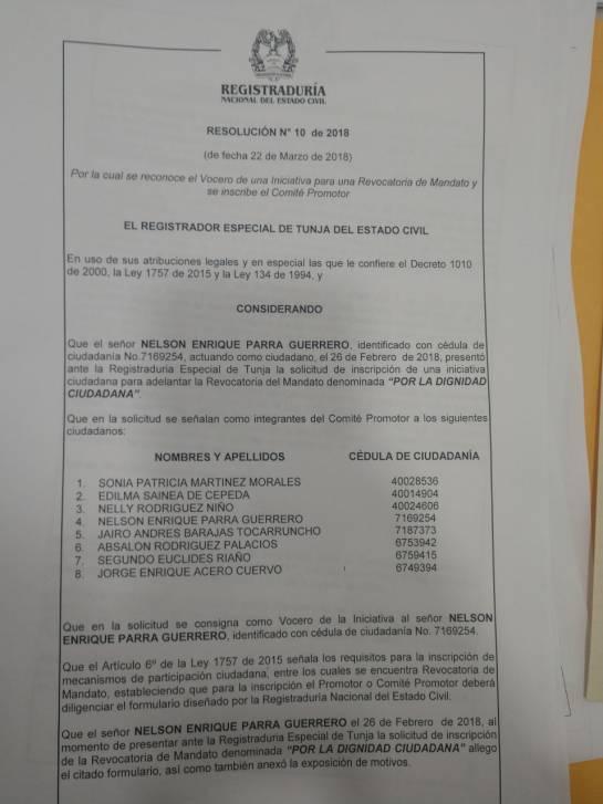 Recogen firmas para revocar al alcalde de Tunja, Boyacá: Recogen firmas para revocar al alcalde de Tunja, Boyacá