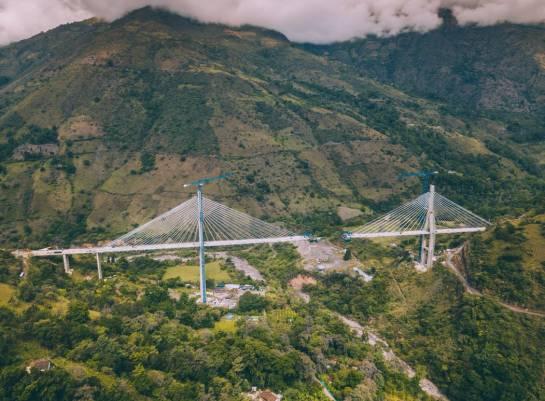 BUCARAMANGA PUENTE SAN ANDRÉS SANTANDER: Las impresionantes imágenes del puente sobre la quebrada Hisgaura