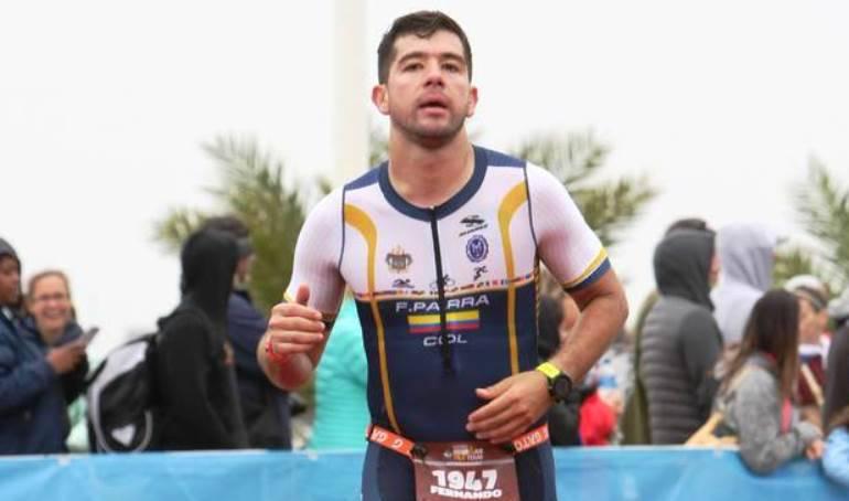 Armada Nacional Maraton: Oficial de la Armada Nacional corrió el Ironman 70.3 en Texas, EE.UU.