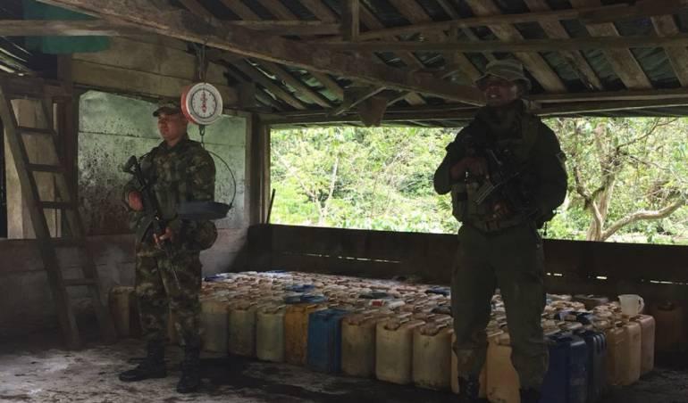 coca el Dovio: Destruyen complejo coquero en el norte del Valle