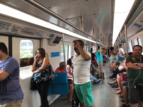 Así quedarían las sillas en el Transmilenio. Foto del Metro de Rio