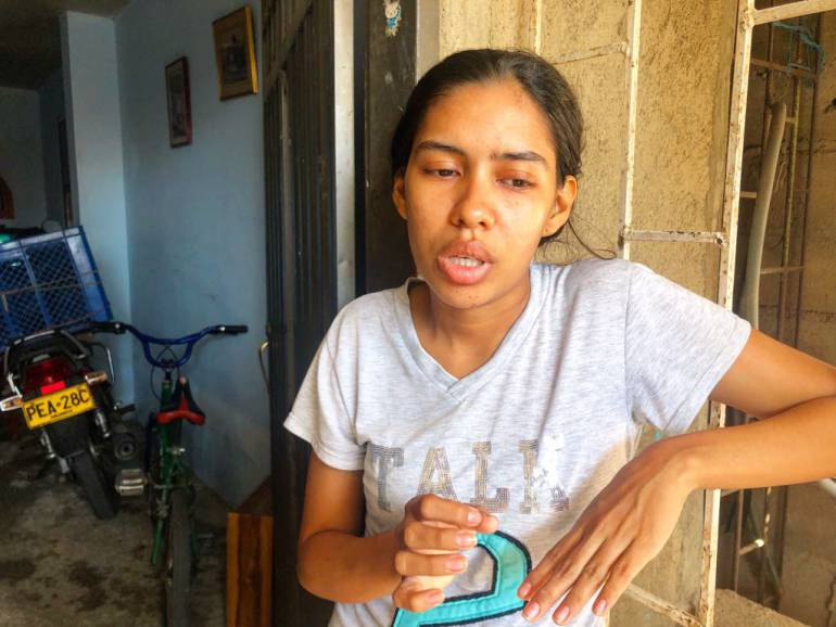 Yina Novoa Contreras, madre de la bebé fallecida. /FOTO CARACOL RADIO