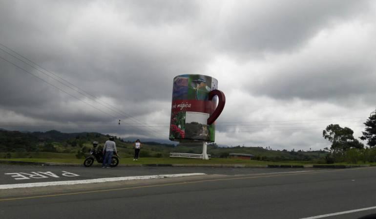 Paisaje Cultural Cafetero, sector del Tambo en autopistas del café al ingreso hacia Filandia
