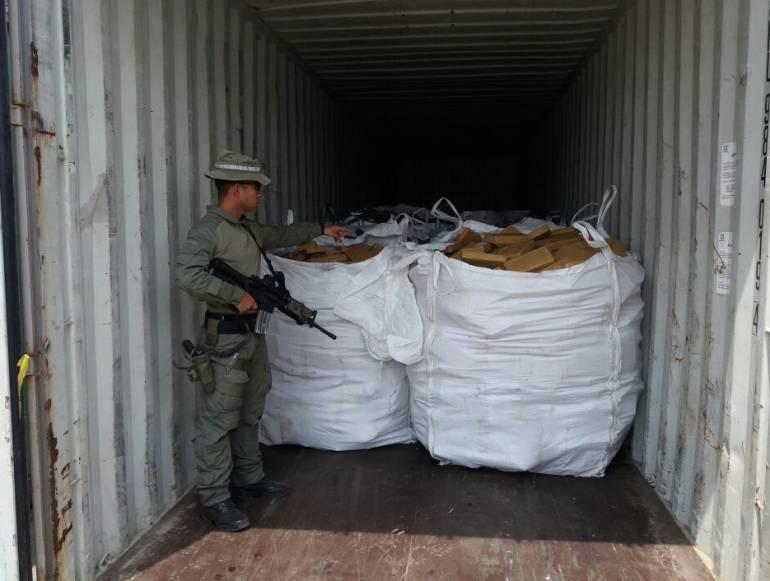 Incautan 700 kilos de cocaína en Puerto de Barranquilla