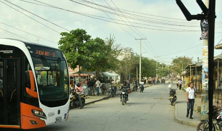 Transcaribe Cartagena: Estudian alternativa para acceso de Transcaribe a sector Mandela: Cartagena