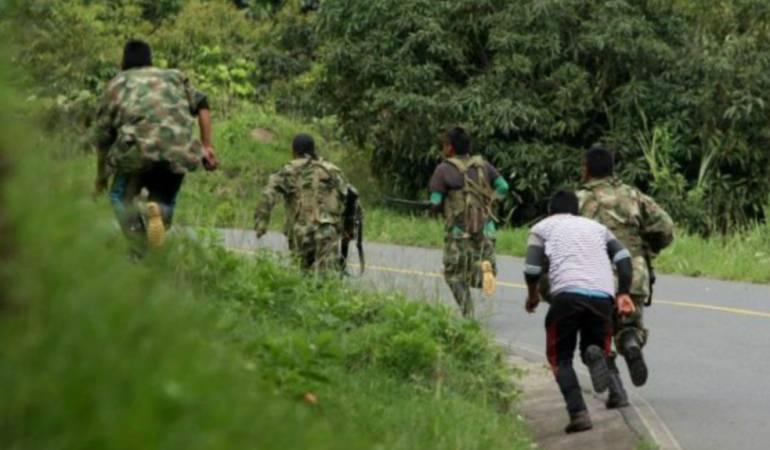 Enfrentamientos entre grupos irregulares.