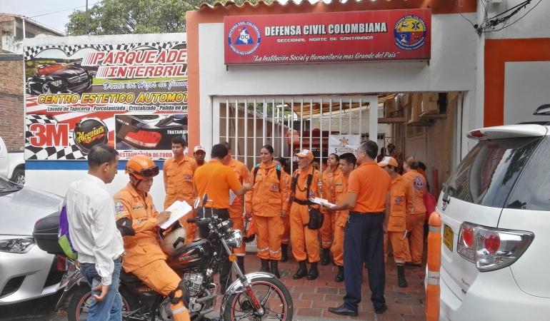 Sede de la defensa civil en Cúcuta