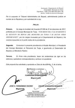 En firme estatuto de rentas de Tunja que fija el cobro del impuesto predial: En firme estatuto de rentas de Tunja que fija el cobro del impuesto predial