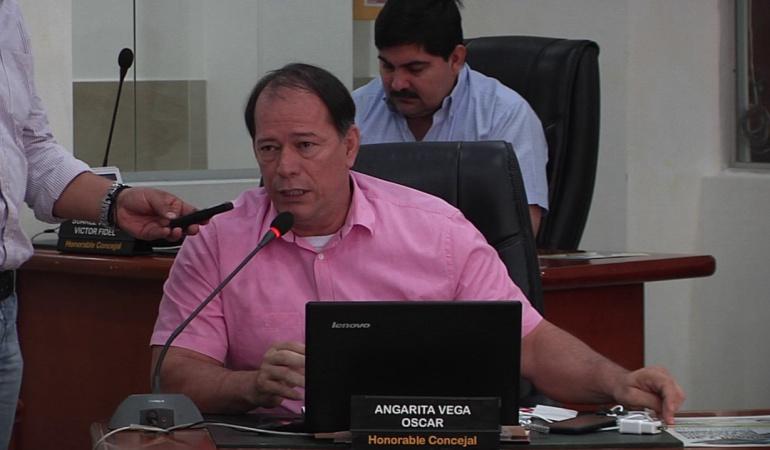 Concejal Oscar Angarita Vega