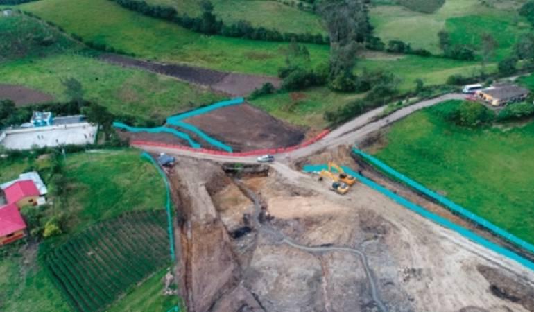 Vía Rumichaca: Doble calzada Rumichaca - Pasto tendrá nuevos frentes de trabajo