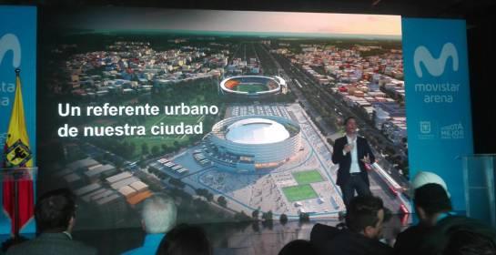 Imagen de cómo quedará el exterior del Movistar Arena.