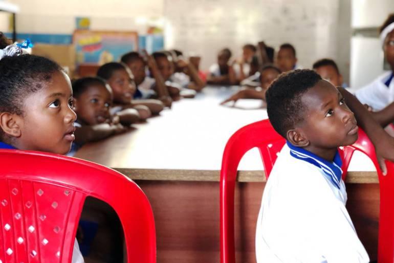 La Boquilla Cartagena, escuelas infantiles: Escuela infantil en sector La Boquilla Cartagena, recibe 6 baños sanitarios