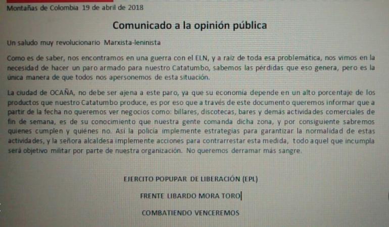 ONU condena violencia en el Catatumbo, Norte de Santander