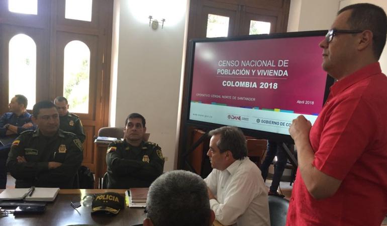 Autoridades de Norte de Santander reunidos por el censo 2018