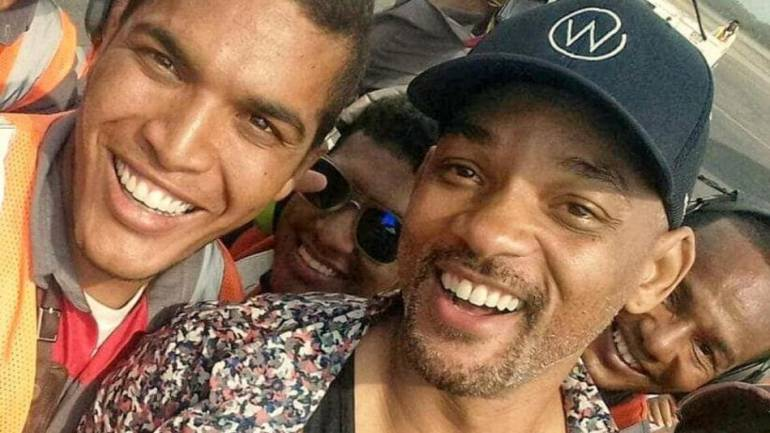 Will Smith baila con Nicky Jam y una mesera en Cartagena