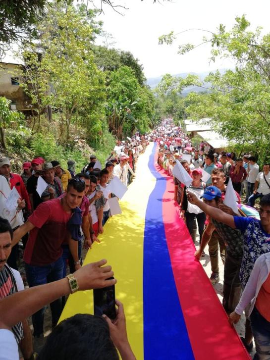 Nuevas marchas realizaron comunidades en el Cataumbo