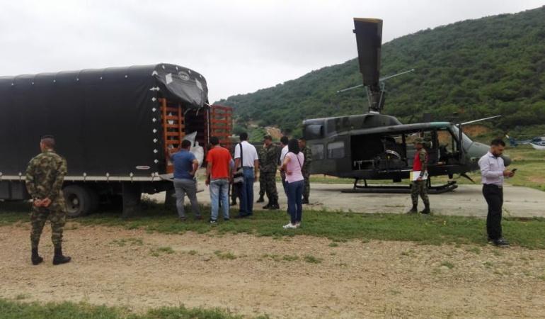 Continua el envió de ayuda humanitaria a los refugios en el Catatumbo