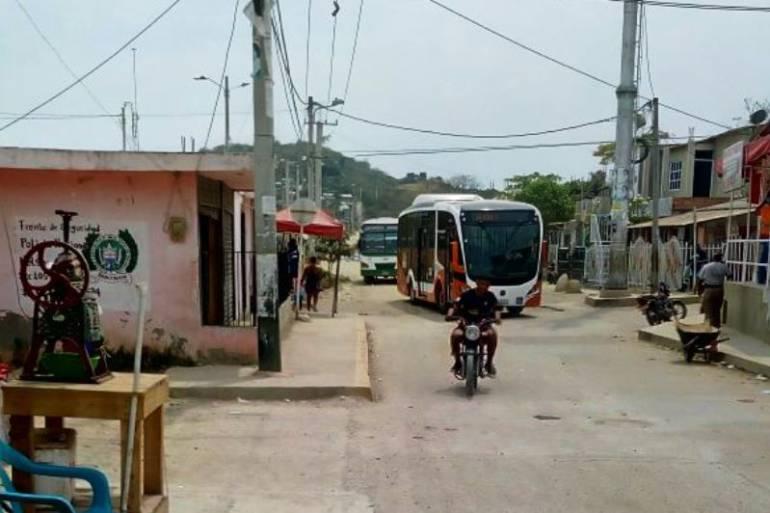 Transcaribe: Transcaribe vuelve a su ruta habitual en el sector Mandela de Cartagena
