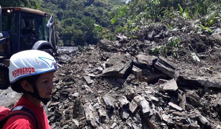 Dos desaparecidos en accidentes mineros en Boyacá