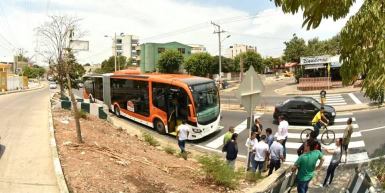 Transcaribe Cartagena: Transcaribe hace recorrido para inspeccionar nueva ruta en Cartagena