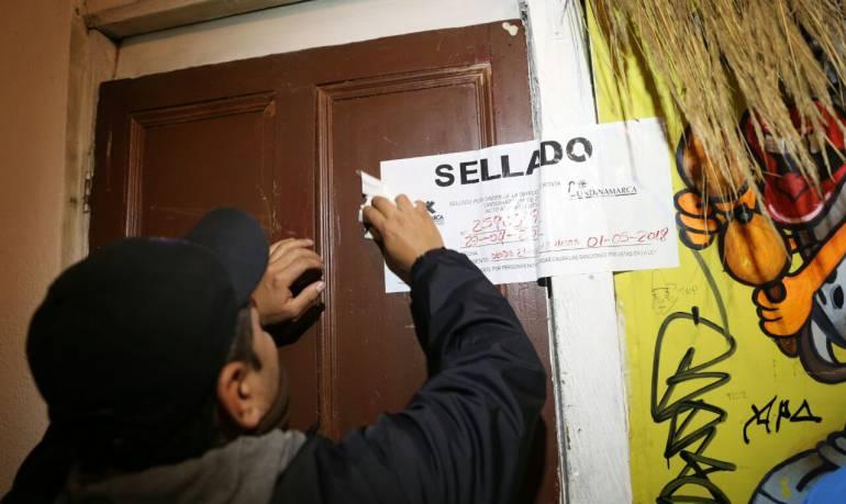 Sellamiento Bares: Más de 120 bares fueron sellados en Bogotá