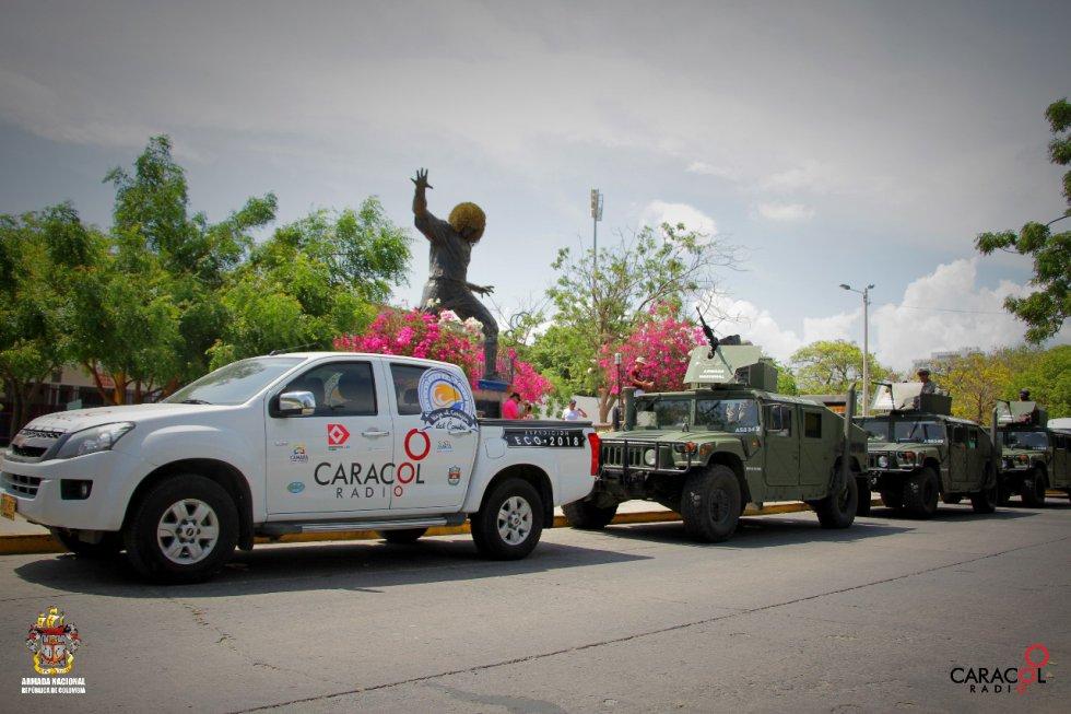 """La estatua de Carlos """"El Pibe"""" Valderrama, uno de los sitios más turísticos de la ciudad"""
