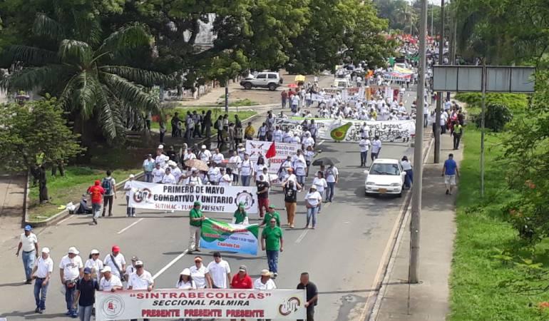 Marcha 1 de mayo: Cali marchó en el Día del Trabajo