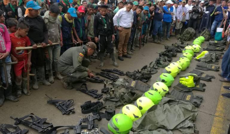 Indígenas aúnno devuelven armas en Risaralda: Gobernador de Risaralda asegura que los indígenas siguen sin devolver armas