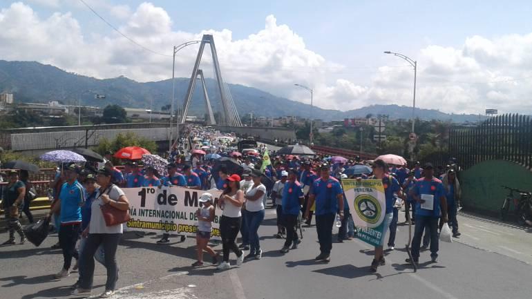Día del Trabajo en Pereira: 7 mil trabajadores marcharon en Dosquebradas y Pereira