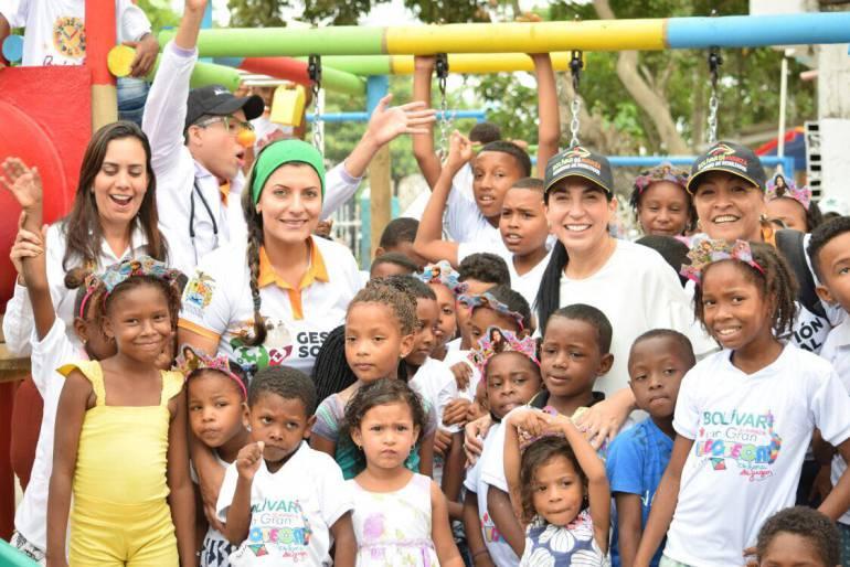 Parques infantiles, san francisco Cartagena: Donado parque infantil a más de 500 niños en zona San Francisco, Cartagena