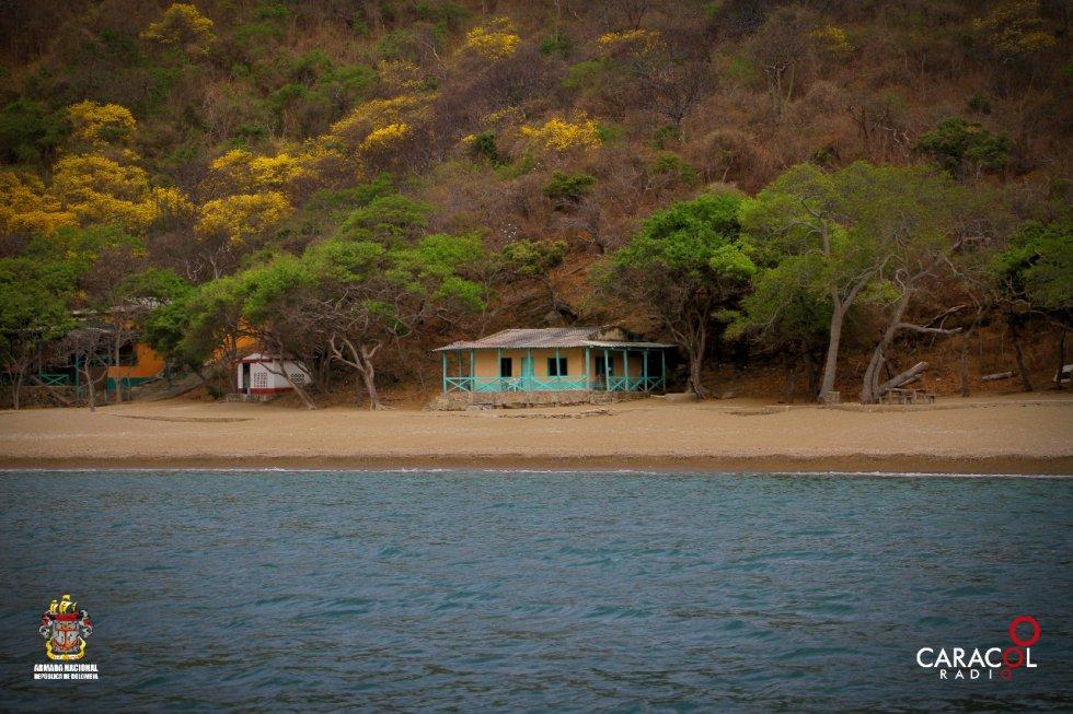 Las aguas tranquilas del Parque Tayrona son uno de los regalos de la naturaleza.