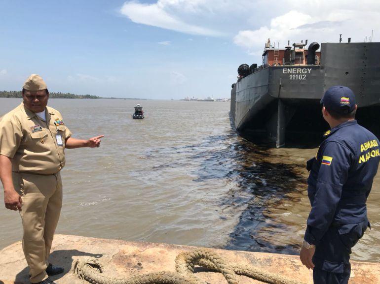 La CRA evalúa daños por derrame de combustible en el río Magdalena