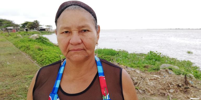 Ana Morales dice que jamás ha visto pasar un carro de basura en Puerto Mocho