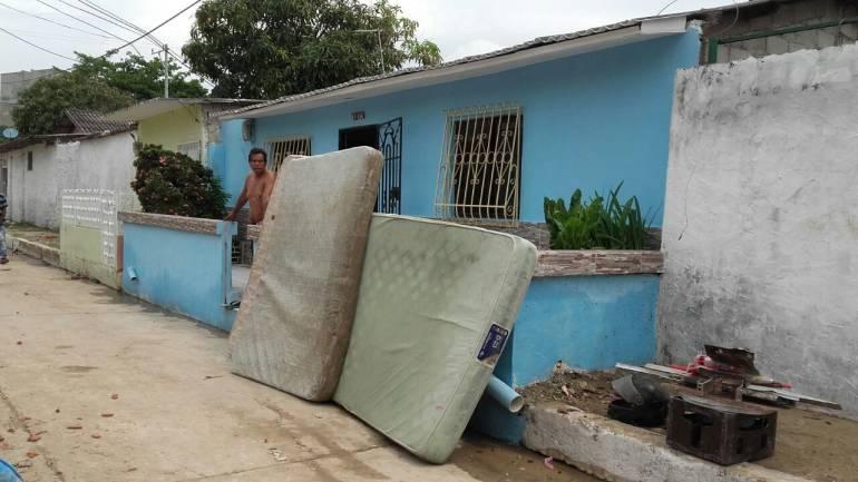 Afectados barrio Simón Bolivar, Barranquilla.