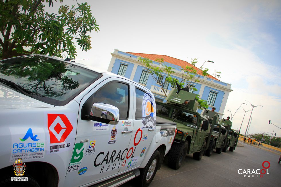 La caravana recorre 2.221 kilómetros en todo el Caribe
