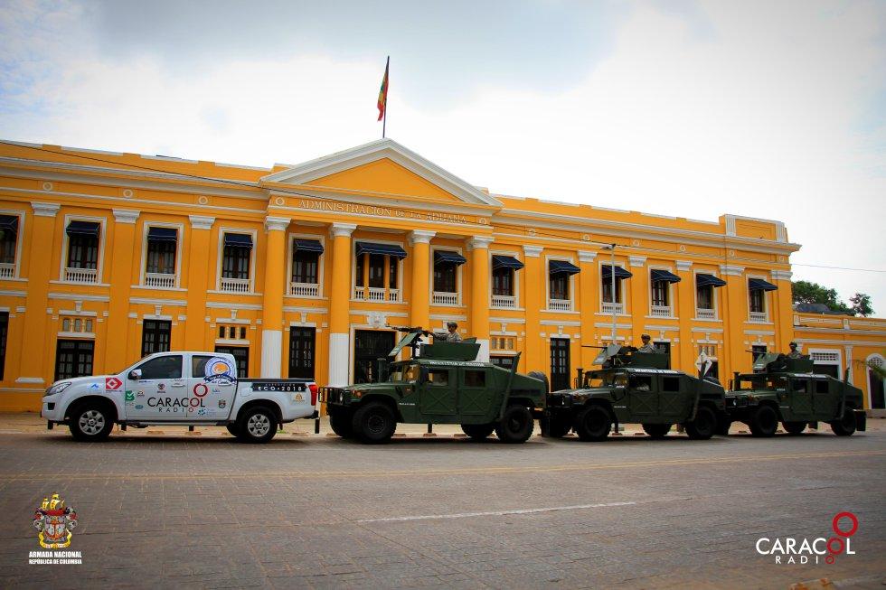 La tradicional Aduana en el centro de Barranquilla recibió a la expedición