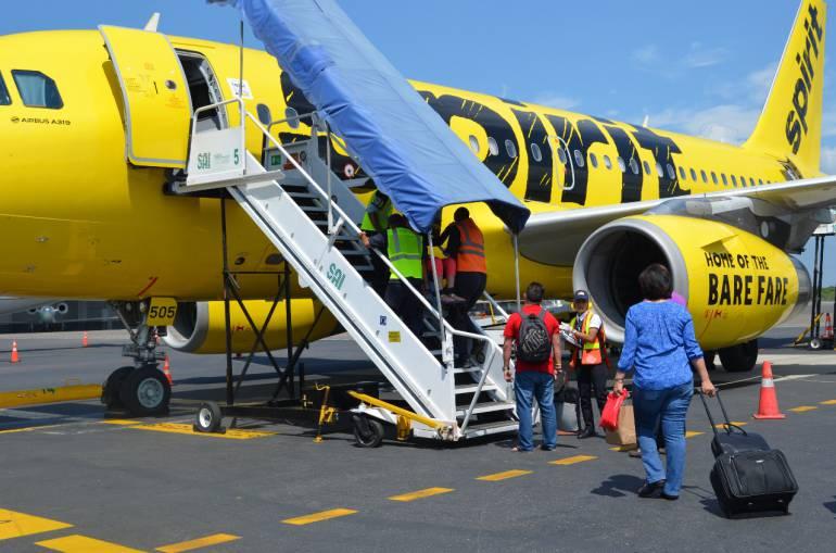 Aerolíneas Cartagena: Aerolínea Spirit celebra diez años operando en Cartagena
