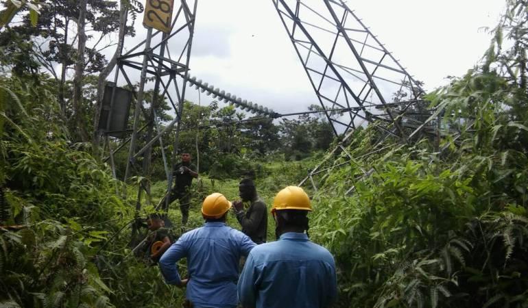 Atentado contra torre en Nariño: Torre si fue derribada por cargas explosivas en Tumaco