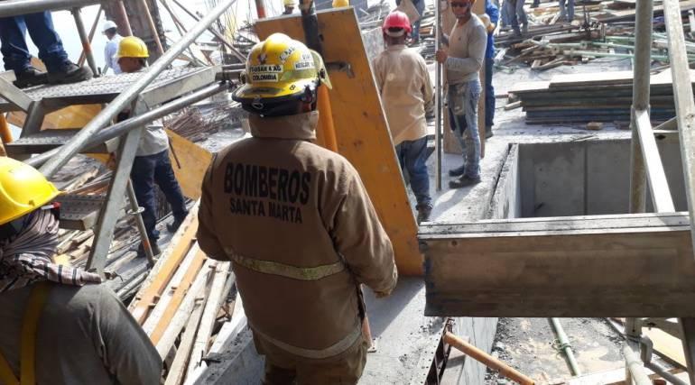 Hotel Hilton: Desplome de plataforma en Hotel Hilton en construcción deja 9 heridos