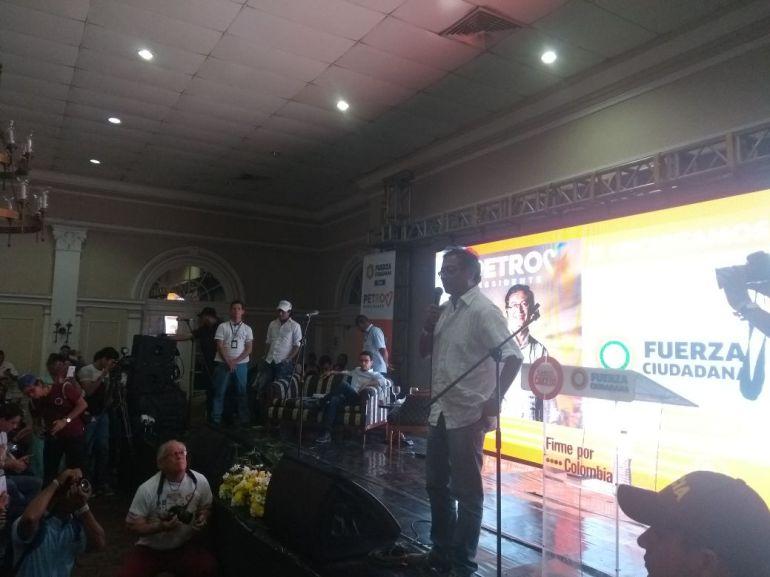 Gustavo Petro afirmó confrontará la compra-venta de votos: Gustavo Petro afirmó confrontará la compra-venta de votos