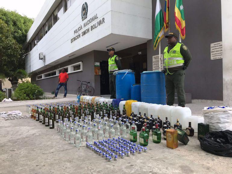 Decomisan licor adulterado en Barranquilla: Decomisan licor adulterado en Barranquilla