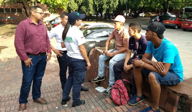 Venezolanos en las calles de Cúcuta