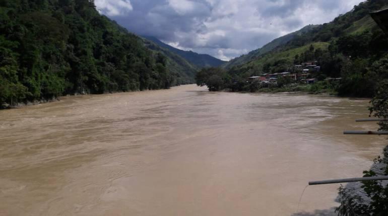 nivel, rio, cauca lluvias, hodroituango: El río Cuaca tiene niveles de temporada alta de lluvias