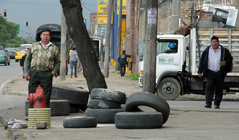 Llantas abandonadas en Bogotá