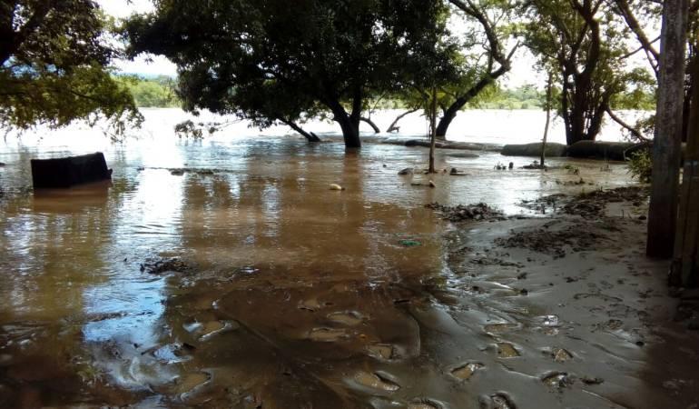 Foto archivo de inundación en La Dorada