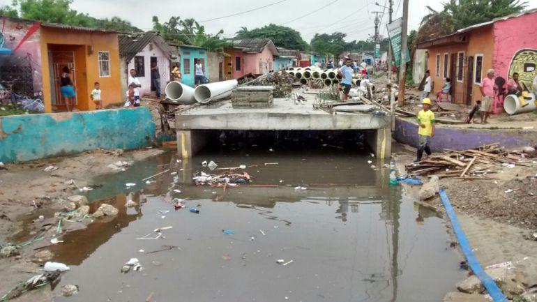 En Barranquilla roban estructura de hierro en la canalización de un arroyo: En Barranquilla roban estructura de hierro en la canalización de un arroyo