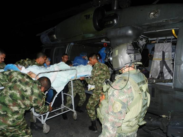 Ejército Nacional evacuó dos menores con quemaduras del sur de Bolívar: Ejército Nacional evacuó dos menores con quemaduras del sur de Bolívar