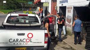 Caracol Radio originó la emisión de noticias de las 845 de la mañana desde el sector.