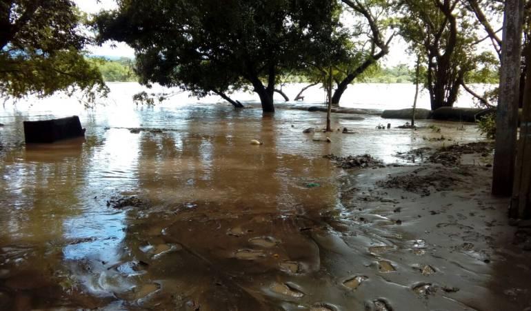 Inundación registrada durante el año 2017 en La Dorada, Caldas